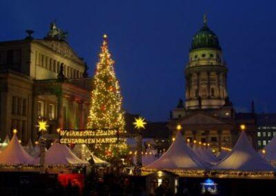 Hin-und Rückweg zum Weihnachtsmarkt